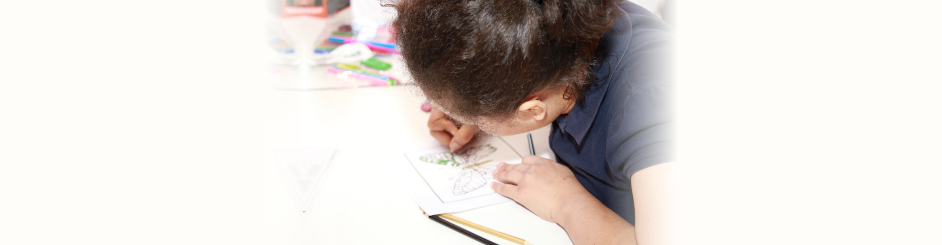 Female doing some drawing
